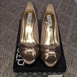 Beautiful Champagne colored satin heels!